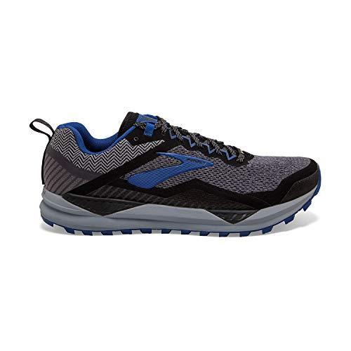 Brooks Men's Cascadia 14 GTX Running Shoes, Black (Black/Grey/Blue 053), 11 UK