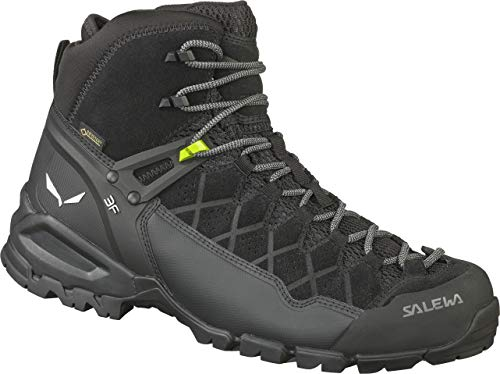 Salewa MS Alp Trainer Mid Gore-TEX Trekking- & Wanderstiefel, Schwarz (Black/Black 0971), 43 EU