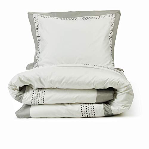 Lincove Luxury Duvet Cover Set - 100% Cotton Sateen Duvet Cover - Ultra Soft Premium Hotel Quality Design Bedding Set - 400 Thread Count (Madrid, Twin)