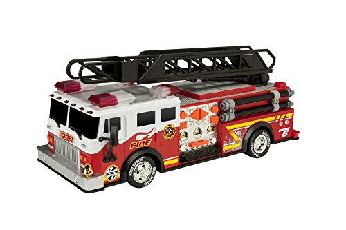 Toy State 14' Rush and Rescue Police and Fire - Hook and Ladder Fire Truck...