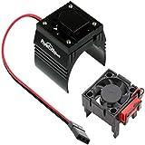 Powerhobby Cooling Fan for Traxxas Velineon VXl-3 ESC + 540/550 Heatsink Motor Fan Combo Black FITS : Traxxas Slash/Stampede 2WD / RUSTLER/Bandit/Rally VXL