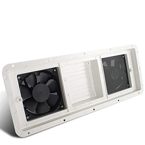 DBG Ventilador de ventilación de RV 12V para RV Trailer Caravan Air Aire OUTELLE ABRAMENTE Blanco