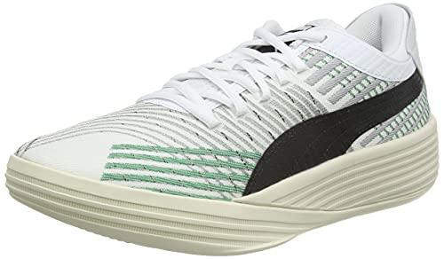 PUMA Unisex Clyde All-pro 2 Coast buty do koszykówki, Puma White Power Green, 41 EU