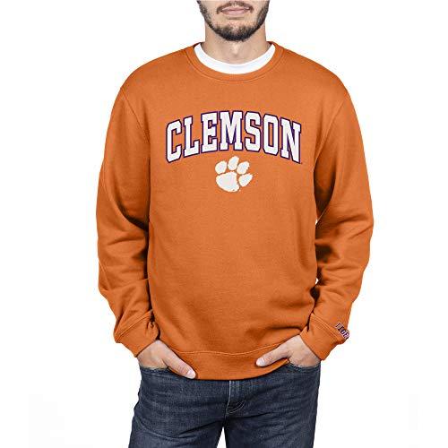 NCAA Clemson Tigers Men's Crewneck Sweatshirt Applique Team Color Arch, Classic Orange, X-Large