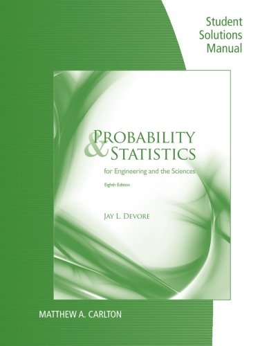 Student Solutions Manual for Devore's Probability and...