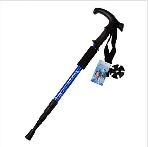hikehobby® Teleskop-Wanderstock, stoßfest, verstellbar von 50 bis 110 cm