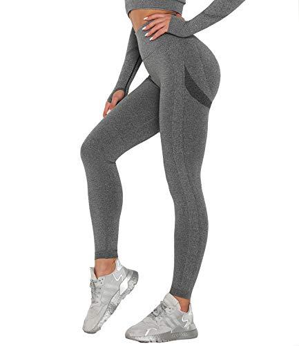 ABUSA Femme Yoga Legging Pantalon de Sport pour Fitness Gym Pilates