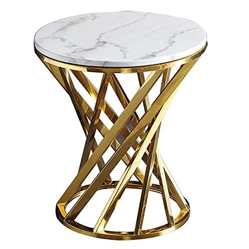 Mesa de té con Base de Metal con Forma de Espiral con Estilo Moderno para Hall de Entrada y Hall.