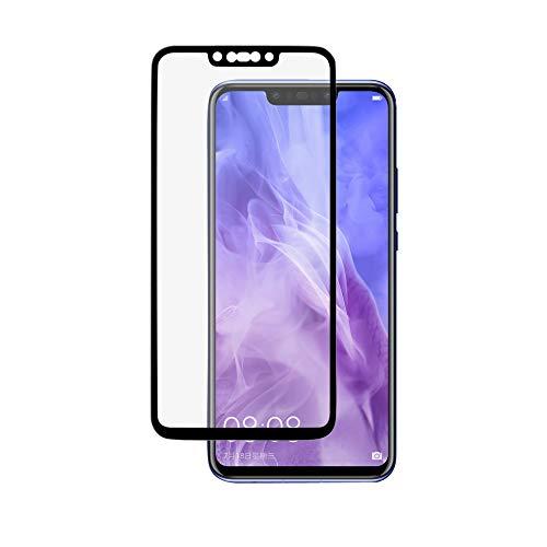 Protetor de tela para Huawei Nova 3, BoxWave [ClearTouch Glass Ultra] Protetor de tela de vidro temperado 9H com borda colorida para Huawei Nova 3 - Preto Jet