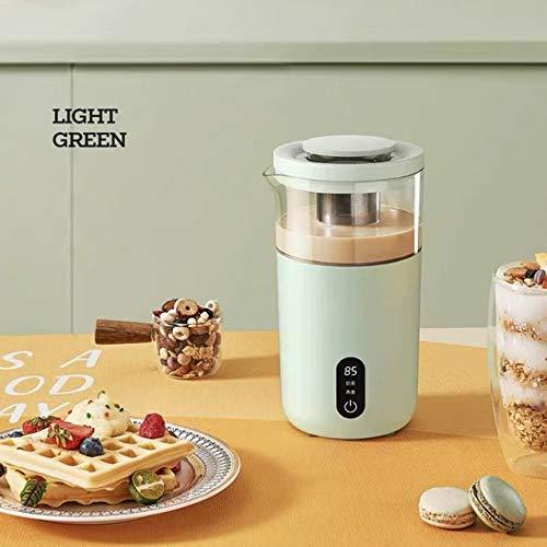 YUTRD ZCJUX Cafetera eléctrica portátil Tetera Leche té de la máquina automática Desayuno de Avena Máquina Temperatura Mostrar (Color : A)