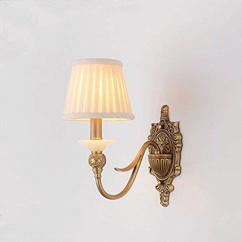 XW LRW wandlamp van koper in landelijke stijl, creatief in Amerikaanse stijl voor de slaapkamer van de keuken in de woonkamer