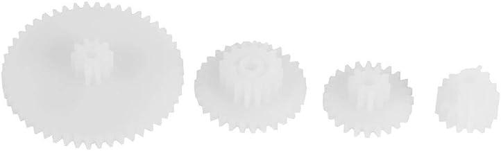 19pcs Set di ingranaggi in plastica Set di ingranaggi del motore Ricambi per auto robot giocattolo Automobili fai da te Taglie varie
