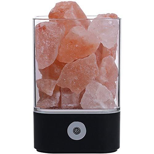 WH Luchtreiniger, natuurlijke Himalaya-zout-kristal USB-lamp mod creator warme tafellamp voor binnen slaapkamer lava-lamp