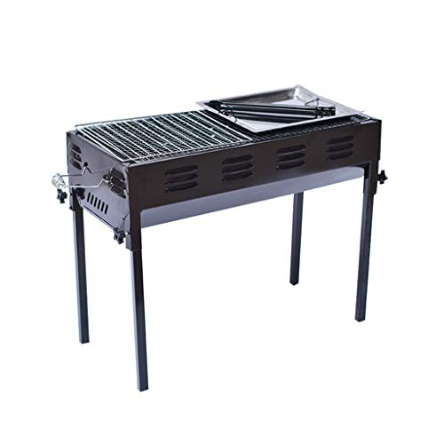 Read About YECUI Large Stainless Steel Barbecue Home Field Tools Carbon Charcoal Grill Outdoor Picni...