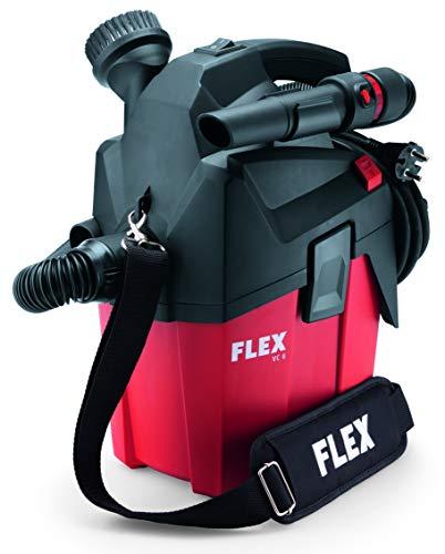 Flex 230/CEE Werkstattsauger VC MC (1200 Watt, kompakter Trockensauger mit Tragegurt, Behälter 6 l, Sauger mit Gerätesteckdose, inkl. Zubehör) 481513, W, schwarz