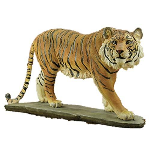 Yqzq- Estatua Modelo Simulación Adornos De Tigre Figuras Artesanías Adornos De Resina Para Jardín Accesorios Para El Hogar Escultura Animal 44 Cm (17.3 Pulgadas De Longitud) Reg, alos, coleccionables,