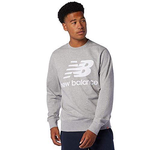 New Balance Essentials Stacked Logo Crew Sweatshirt Herren grau, M