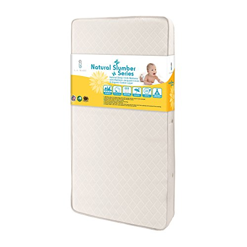 Amazing Deal LA Baby NaturaI Sleep I Mattress with Madison Jacquard Cover, White