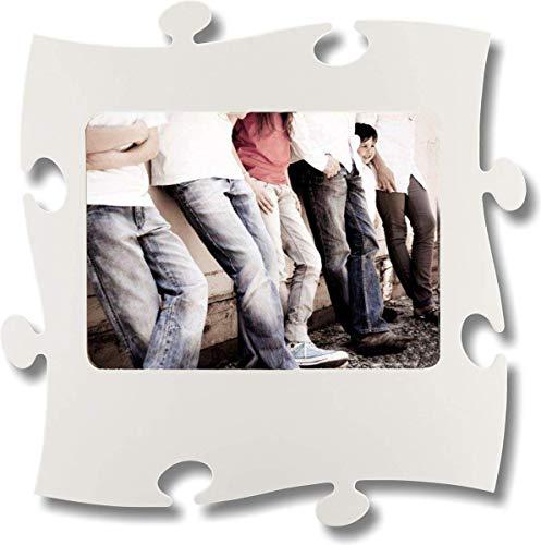 Unbekannt Rahmen Puzzle aus Holz–1Foto 20x 28cm–Weiß