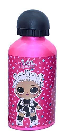 ML Botella de Agua de Aluminio para niños y niñas, 0.4 L cantimplora térmica a Prueba de Fugas sin BPA para Levar a la Escuela y Deportes 500ml (Rosita)
