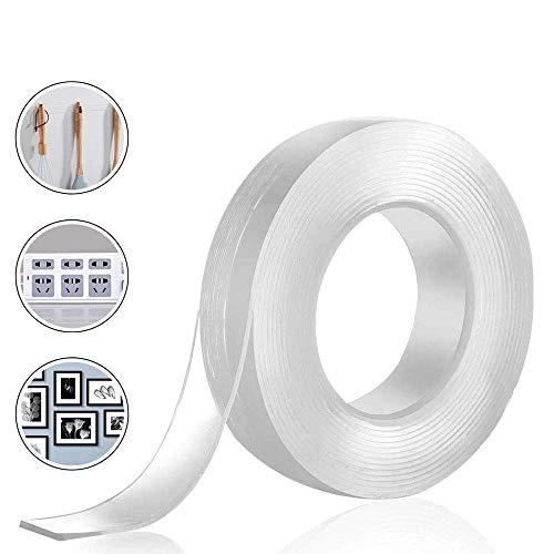 DLOPK 両面テープ 超強力 のり残らず 繰り返し はがせる 防水 耐熱 強力 滑り止め 洗濯可能 多機能 多サイズ 家庭 オフィス 寮 学校 会社 工業用など 3cm x 0.2cm x 6m