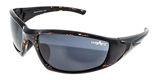 WrApz Streamline Demi TR90 Lunettes de soleil avec monture flexible et miroir de fumée 100 % UV400 Marron