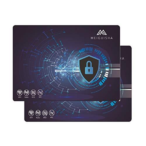 RFID Blocker Karte – Störsender bietet RFID Schutz gegen das Auslesen von Kreditkarten – Eine RFID Karte sichert die ganze Geldbörse – Ideale Alternative zur NFC Schutzhülle