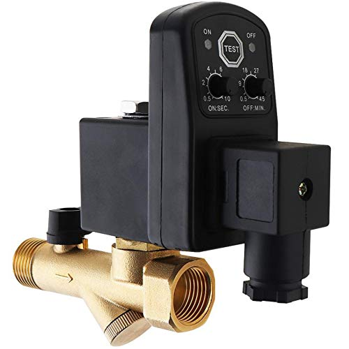 SNOWINSPRING 1/4 Zoll Ac220V 1.6Mpa Elektronisches Ablass Ventil Zeit Gesteuertes Luft Kompressor Gas Tank Automatisches 2 Wege Ablass Ventil