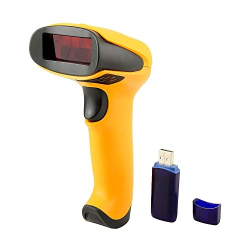Review Of Wireless Barcode Scanner, 1D Laser Barcode Reader 433MHz USB Cordless Barcode Scanners Han...