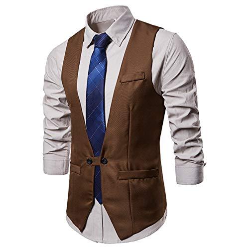 Pure kleur pak vest jurk vest voor mannen smoking vest