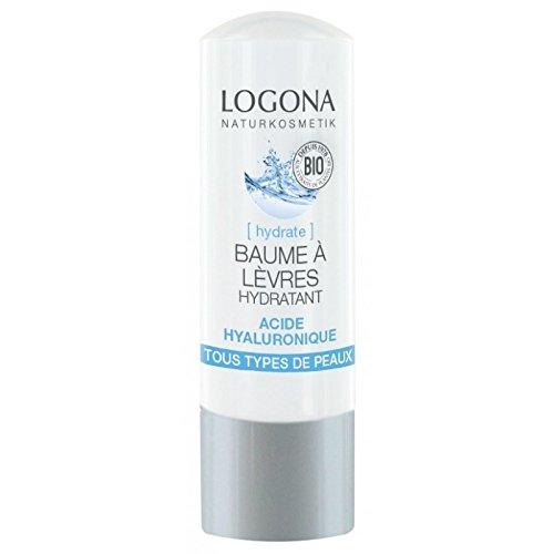 Logona - Bálsamo labial hidratante orgánico, ácido hialurónico, 4,5 g