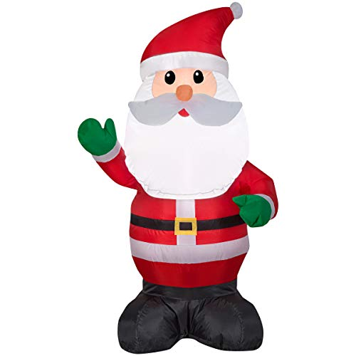 Gemmy Airblown Inflatable Santa Claus 4ft Everything Included