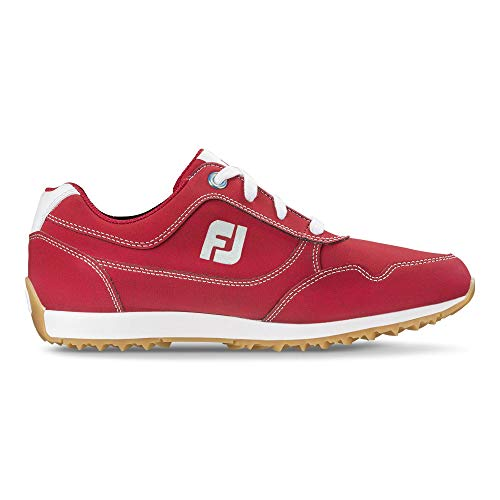 FootJoy Women's Sport Retro Golf Shoes Red 7 M US