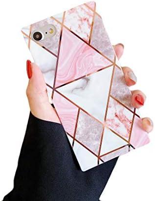 Cocomii Square Geometric Marble iPhone SE 2020 iPhone 8 iPhone 7 Case Slim Glossy Soft TPU Silicone product image