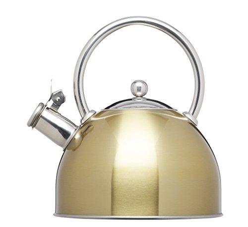 Kitchencraft le' Xpress induction-safe stove-top bollitore a fischio, 1.4l–Finitura ottone