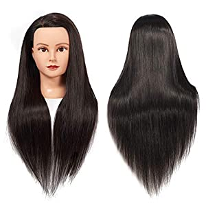 Hair length: 26-28 inches (from the forehead to the back hair end),Individual hair strand: 20 inches, colour:2# black Material: High-temperature resistance fiber hair. if you want to flat/curl iron your hair, we recommend that the temperature can not...
