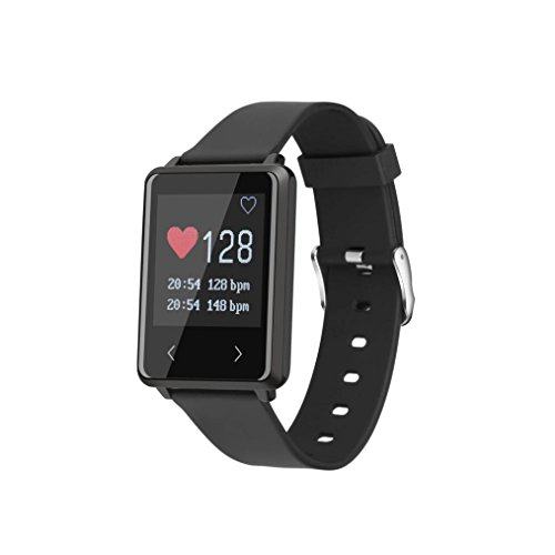 AMH Fitness Armband, Z8 1.44'' OLED Bluetooth 4.2 Smart Armband Uhr mit Pulsmesser, Smart Fitness Tracker mit Herzfrequenzmesser, Schrittzähler, Schlaf-Monitor, Aktivitäts Tracker