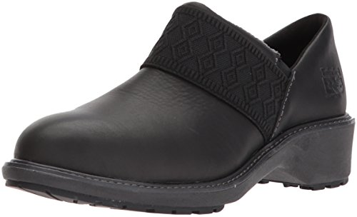 Timberland PRO Women's Riveter Alloy Toe SD+ Industrial & Construction Shoe, Black Swank Full Grain Leather, 8 M US