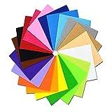 20 Pezzi Fogli Feltro Colorato,Feltro Tessuto Feltro Artigianale Diy Decorazione Panno In Feltro Assortito Colore Feltro Tessuto Non Tessuto Foglio Per Artigianato Fai-Da-Te Cucito (20Cm*30 Cm)