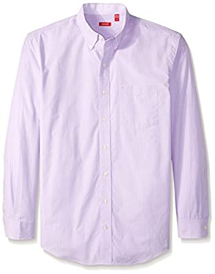 IZOD Men's CLEARANCE Big and Tall Button Down Stretch Performance Gingham Shirt