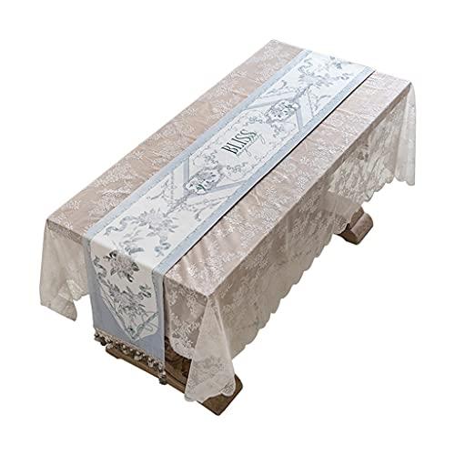 YSMLL Camino de mesa de país fresco azul francés cama armario de TV plano mesa de centro mantel cama tira de bandera de cola (Color : B, Size : 30x200cm)