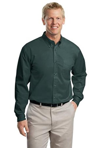 Port Authority Long Sleeve Easy Care Shirt (S608) Available in 27 Colors X-Large Dark Green