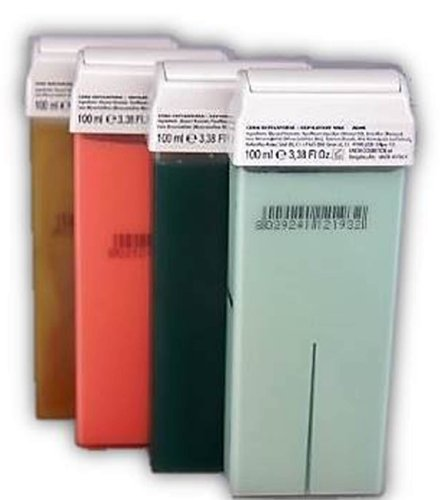 Wachspatronen 4er Set gemischt mit grossem Rollkopf empfehlenswert für Wachsgeräte Profi Wachs Waxing Haarentfernungsmittel