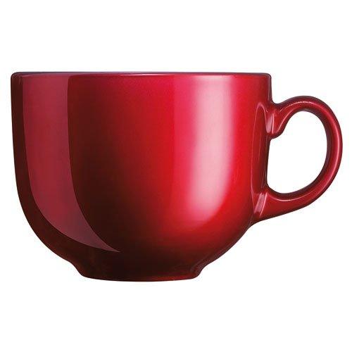 Luminarc Flashy Jumbo Taza de Vidrio Metalizado para Café/Tazón 307-5333 de 500 mililitros 1 Pieza Rojo