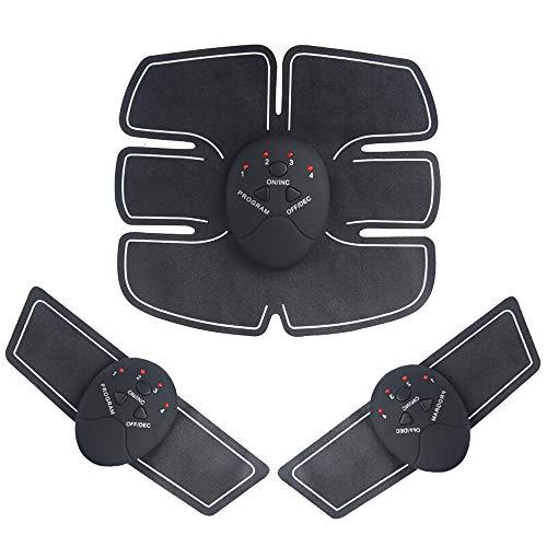 Amasawa Estimulador Muscular EMS,Estimulador Muscular Entrenador, Entrenador de Abdominales Recargable por USB con 6 Modos y 10 Niveles, para Abdomen/Brazo/Pierna
