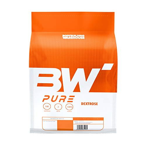 Pure Dextrose Powder 4kg - Carbohydrate Supplement - Energy Supply, Glycogen Restore - Unflavoured | Bodybuilding Warehouse, White