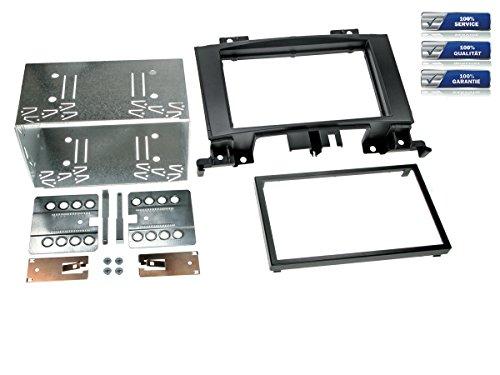 NIQ Doppel-DIN Radioblende für Mercedes Sprinter (W906) 2006-> mit Klimaanlage, VW Crafter 2006-> *schwarz*