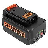 ADVTRONICS BL20362 Batería de repuesto Compatible con Black & Decker 36V BL20362 BL20362-XJ LBXR2036 LBX2040 LBX36 LBXR36 LBXR2036 (Ion de litio 36 V 2,5Ah)