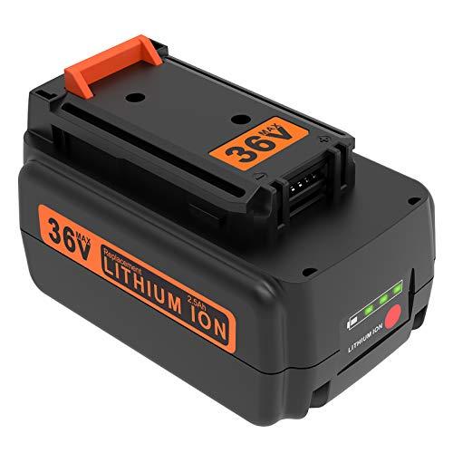 ADVTRONICS BL20362 - Batería de repuesto para Black & Decker 36V BL20362 LBX2040 LBX36 LBXR36 LBXR2036 Black + Decker 36V Black + Decker 36V Black + Decker (ion de litio)