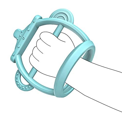 CHAODI Baby Beißring Spielzeug, Silikon Natürliche Bio Gefrierschrank Sichere Beißringe für Neugeborene, Babys Dusche Geschenk/Babys Beißring Kauspielzeug